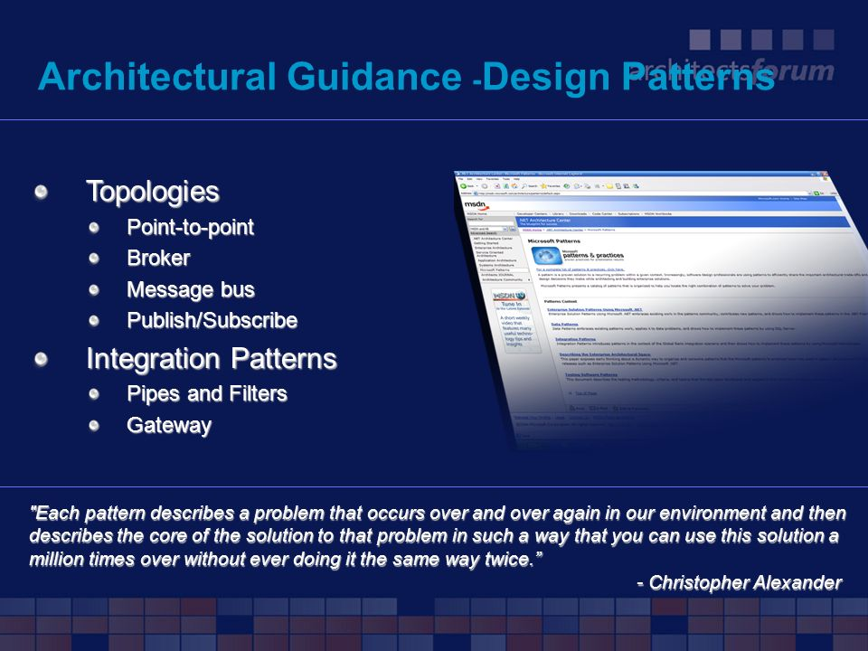 Architectural Guidance -Design Patterns