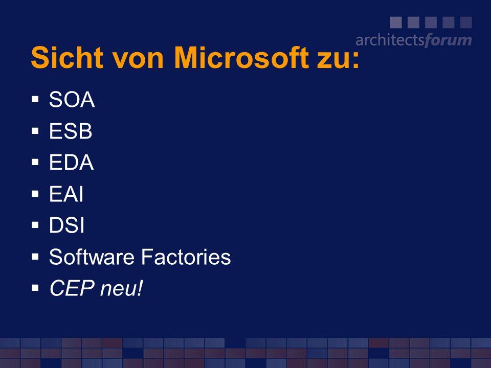 Sicht von Microsoft zu: