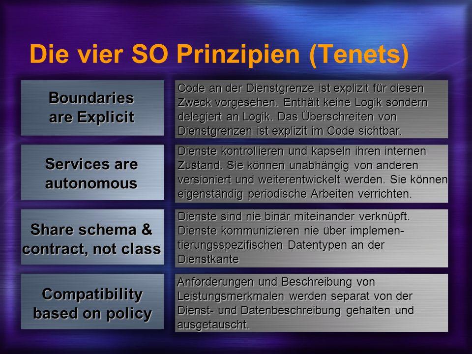 Die vier SO Prinzipien (Tenets)