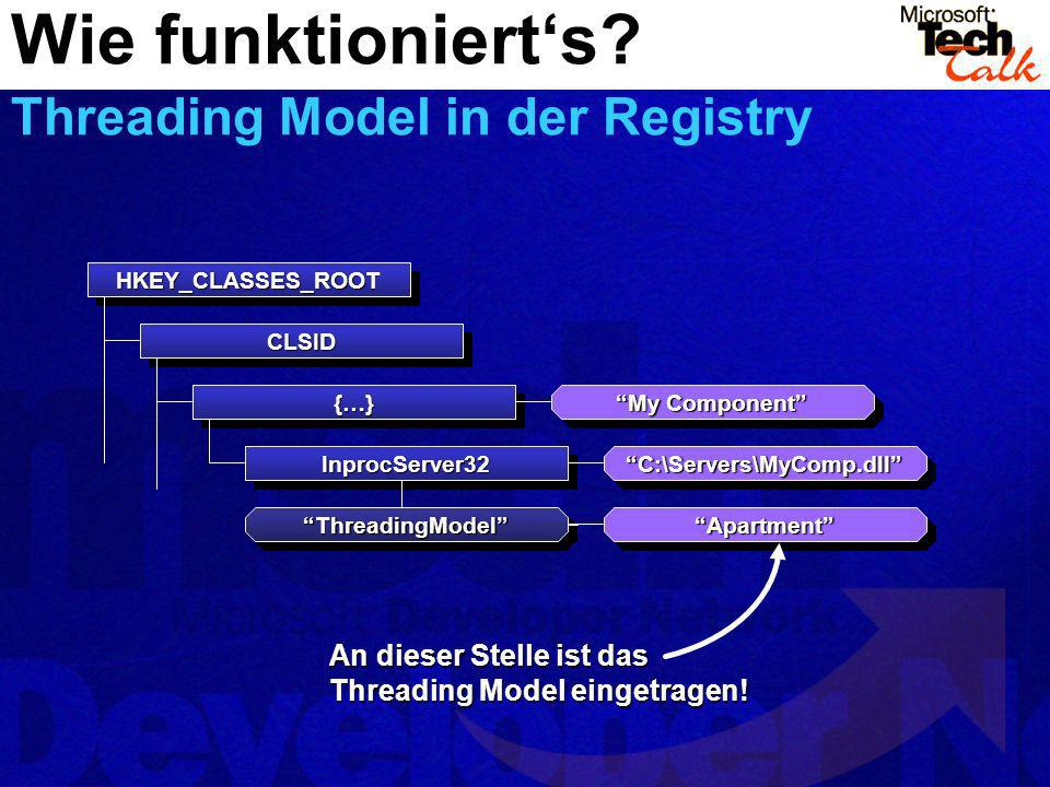 Wie funktioniert's Threading Model in der Registry