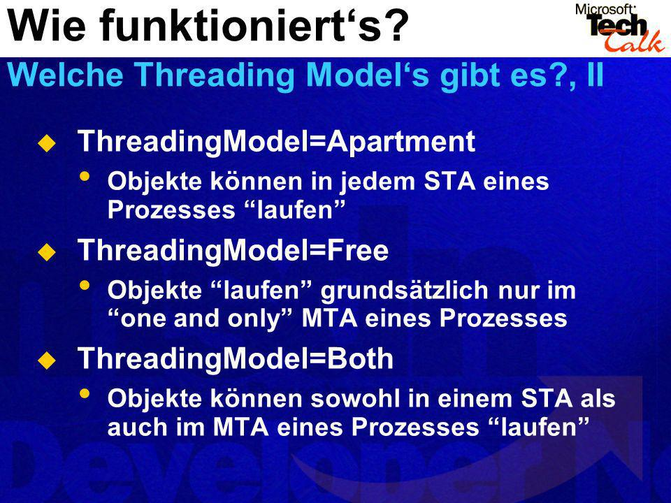 Wie funktioniert's Welche Threading Model's gibt es , II