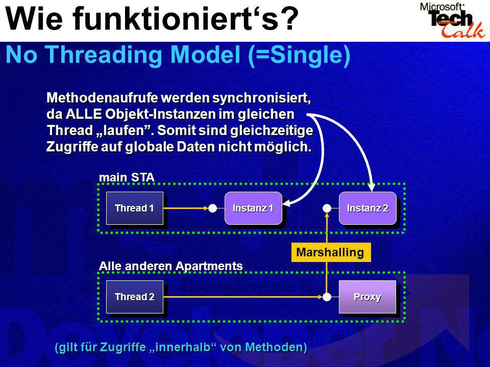 Wie funktioniert's No Threading Model (=Single)