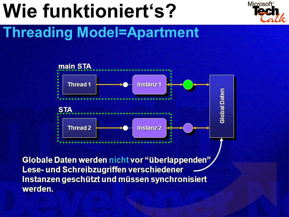 Wie funktioniert's Threading Model=Apartment