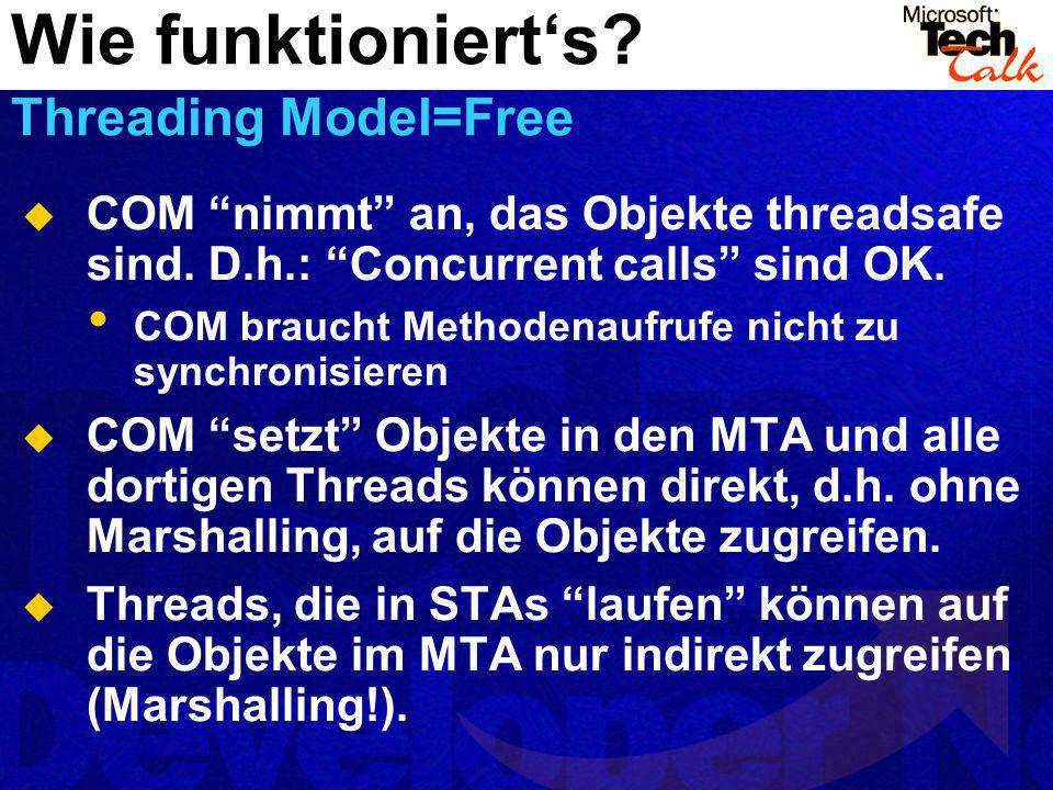 Wie funktioniert's Threading Model=Free
