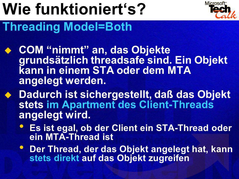 Wie funktioniert's Threading Model=Both