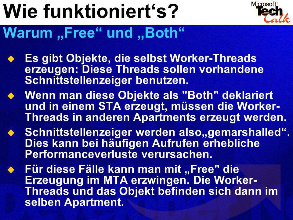 """Wie funktioniert's Warum """"Free und """"Both"""