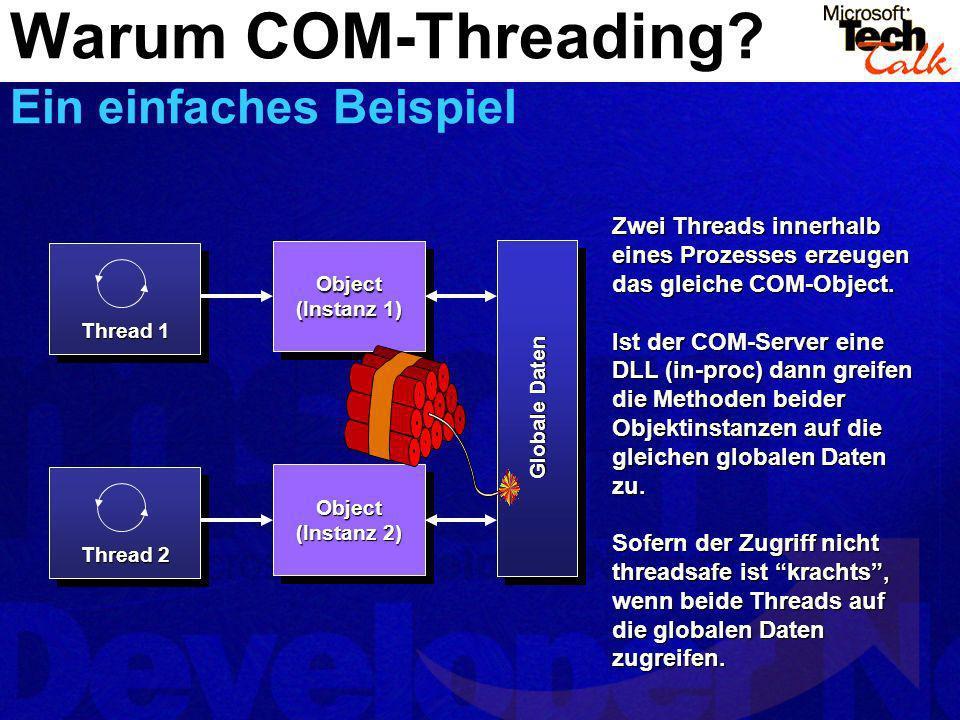 Warum COM-Threading Ein einfaches Beispiel