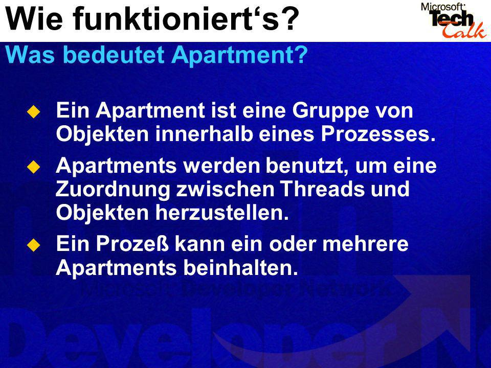 Wie funktioniert's Was bedeutet Apartment