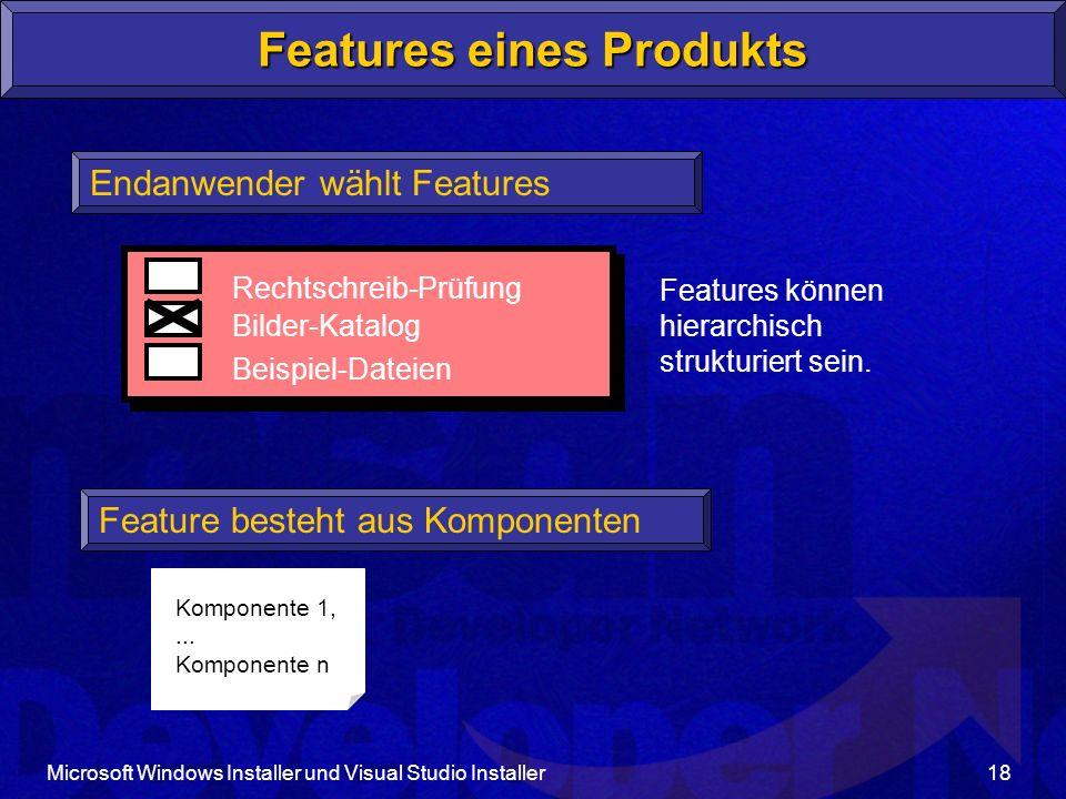 Features eines Produkts