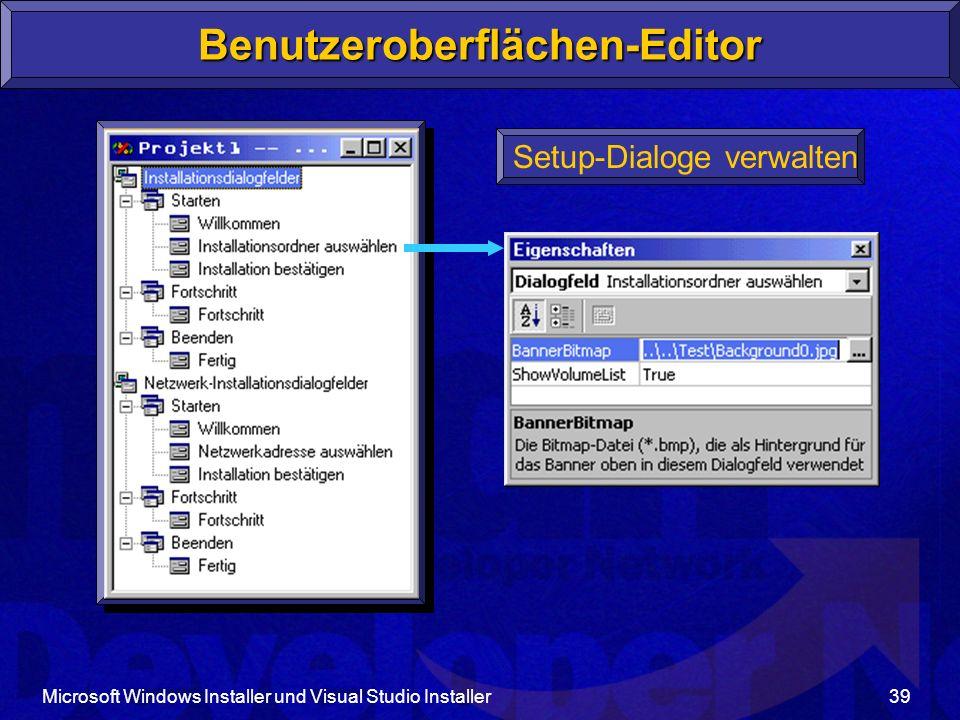 Benutzeroberflächen-Editor