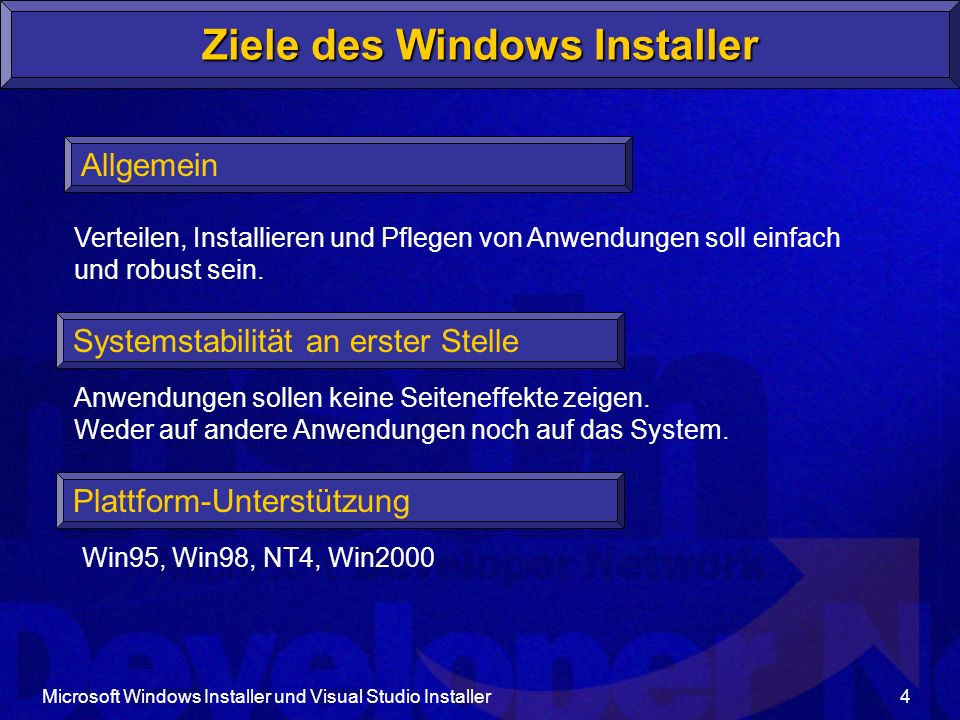 Ziele des Windows Installer