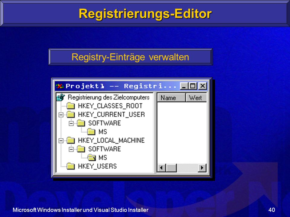 Registrierungs-Editor
