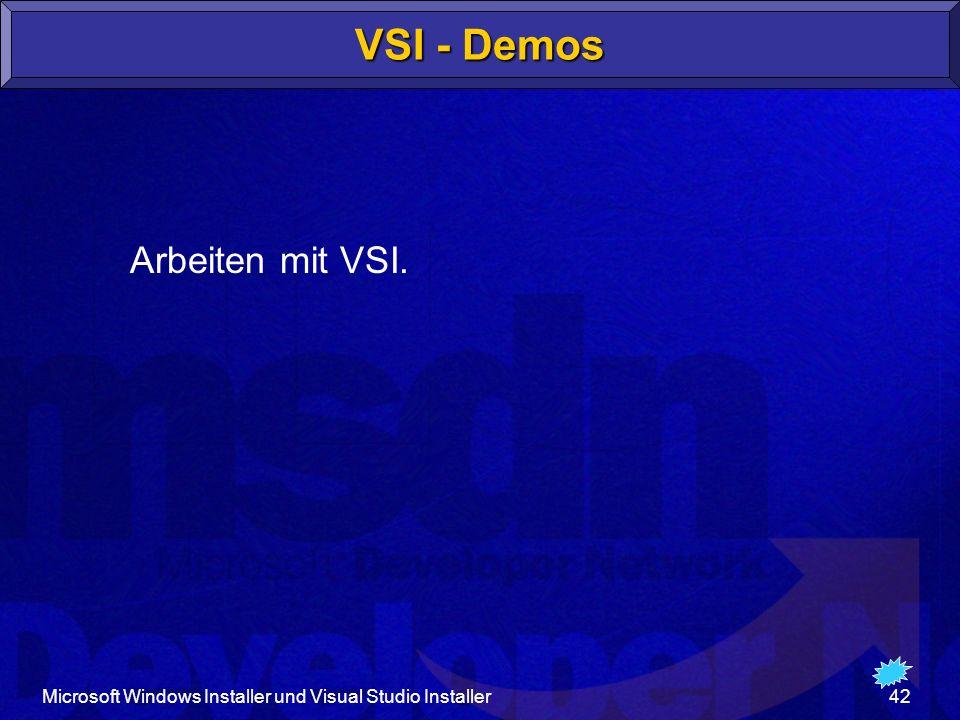 VSI - Demos Arbeiten mit VSI.