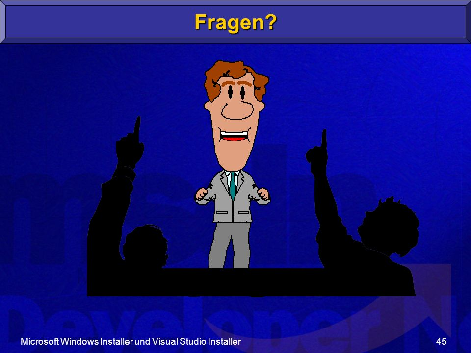Fragen Microsoft Windows Installer und Visual Studio Installer