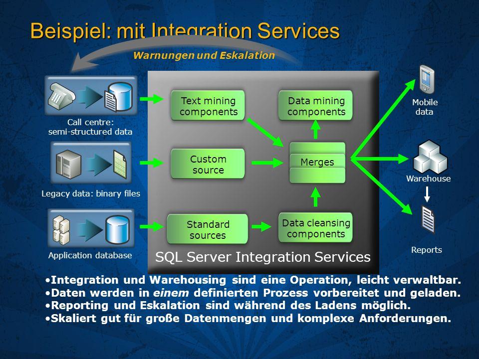 Beispiel: mit Integration Services