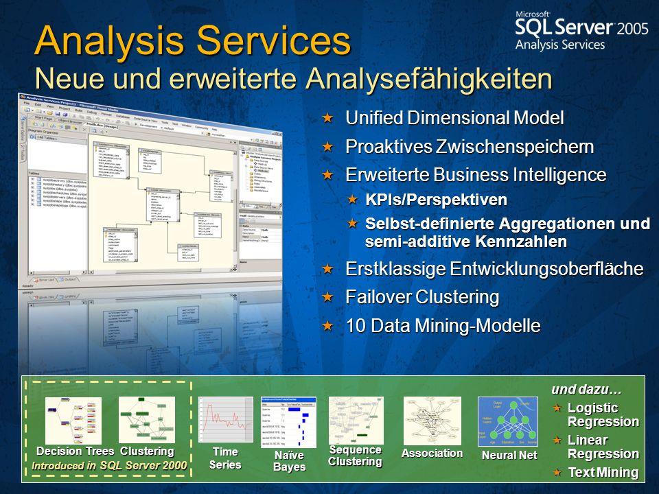 Analysis Services Neue und erweiterte Analysefähigkeiten