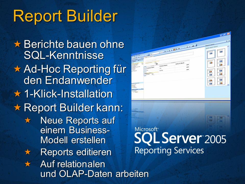 Report Builder Berichte bauen ohne SQL-Kenntnisse
