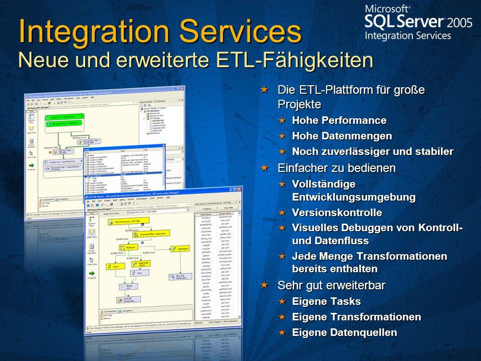 Integration Services Neue und erweiterte ETL-Fähigkeiten