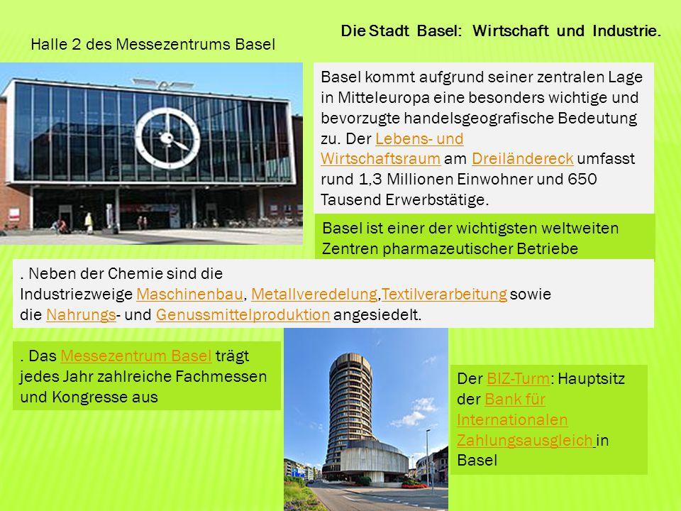 Die Stadt Basel: Wirtschaft und Industrie.