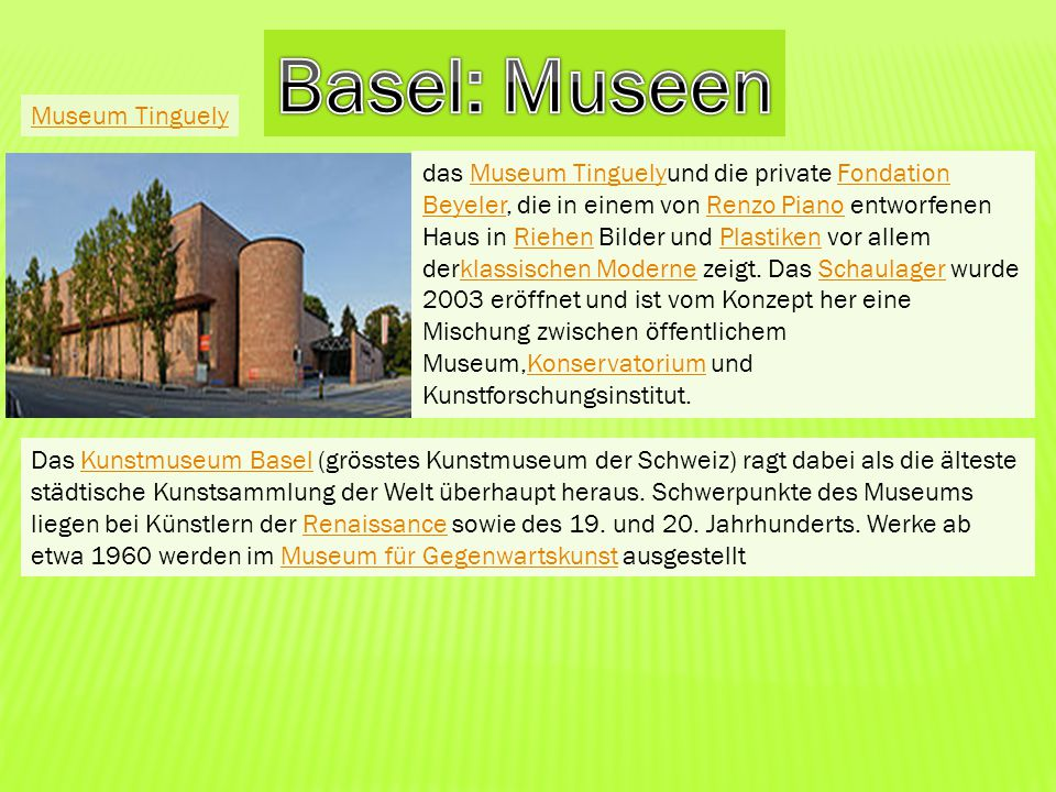 Basel: Museen Museum Tinguely