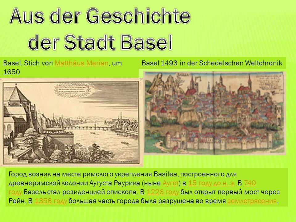 Aus der Geschichte der Stadt Basel