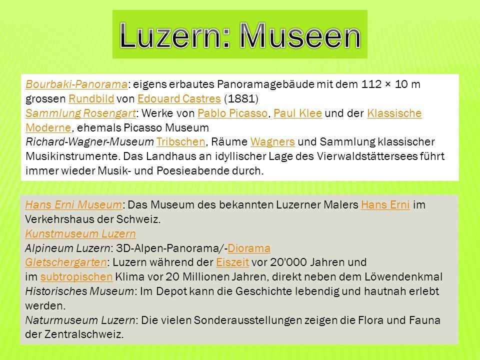 Luzern: Museen Bourbaki-Panorama: eigens erbautes Panoramagebäude mit dem 112 × 10 m grossen Rundbild von Edouard Castres (1881)