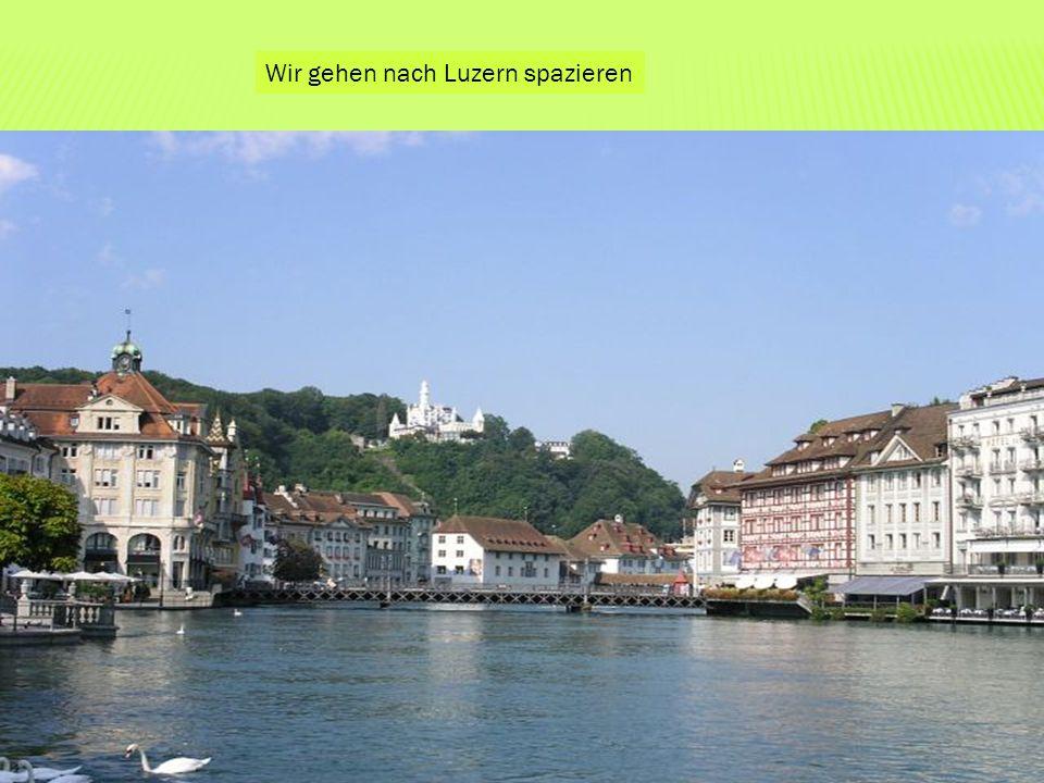 Wir gehen nach Luzern spazieren