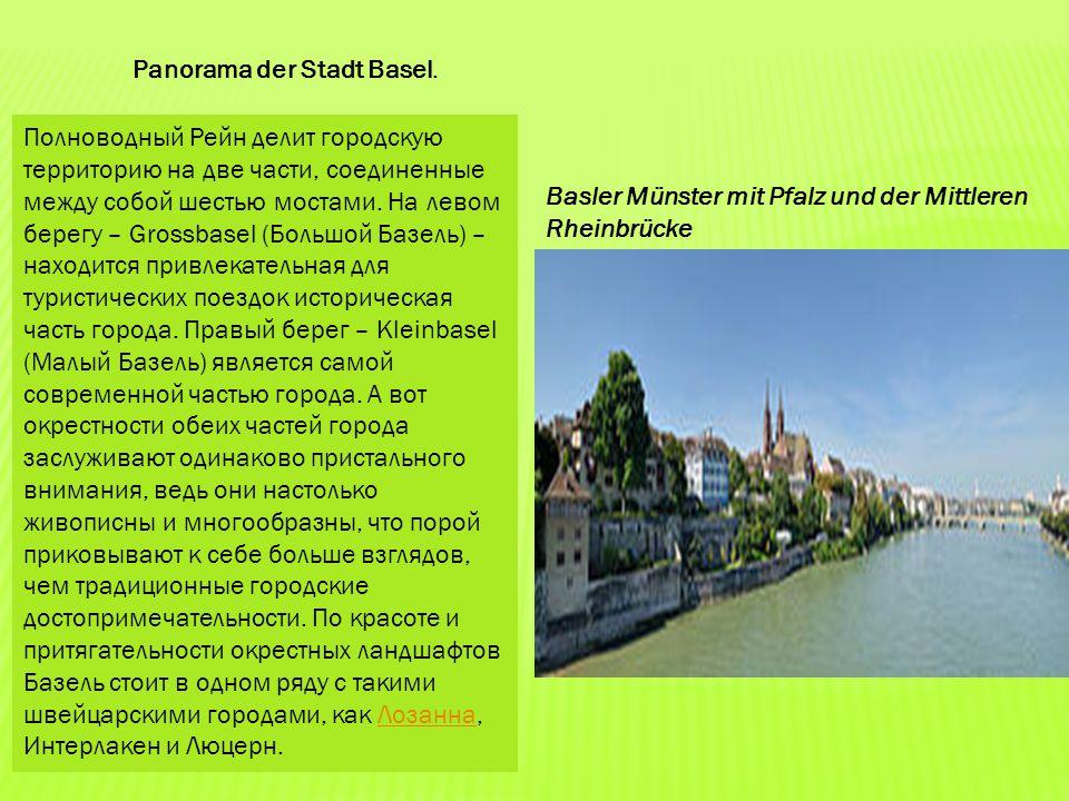 Panorama der Stadt Basel.