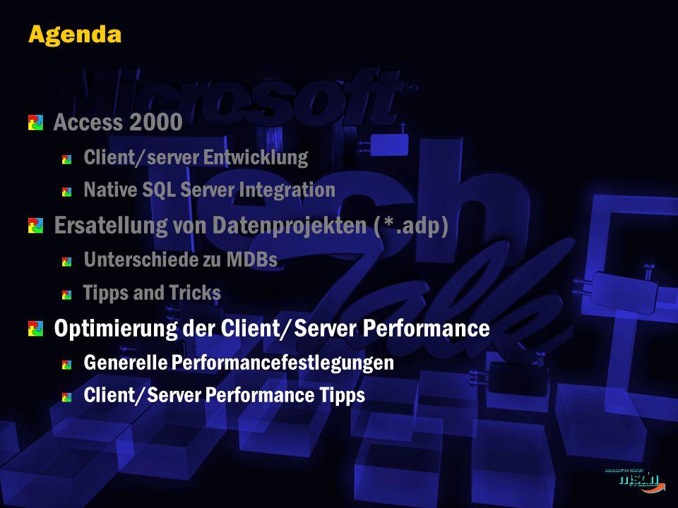Ersatellung von Datenprojekten (*.adp)
