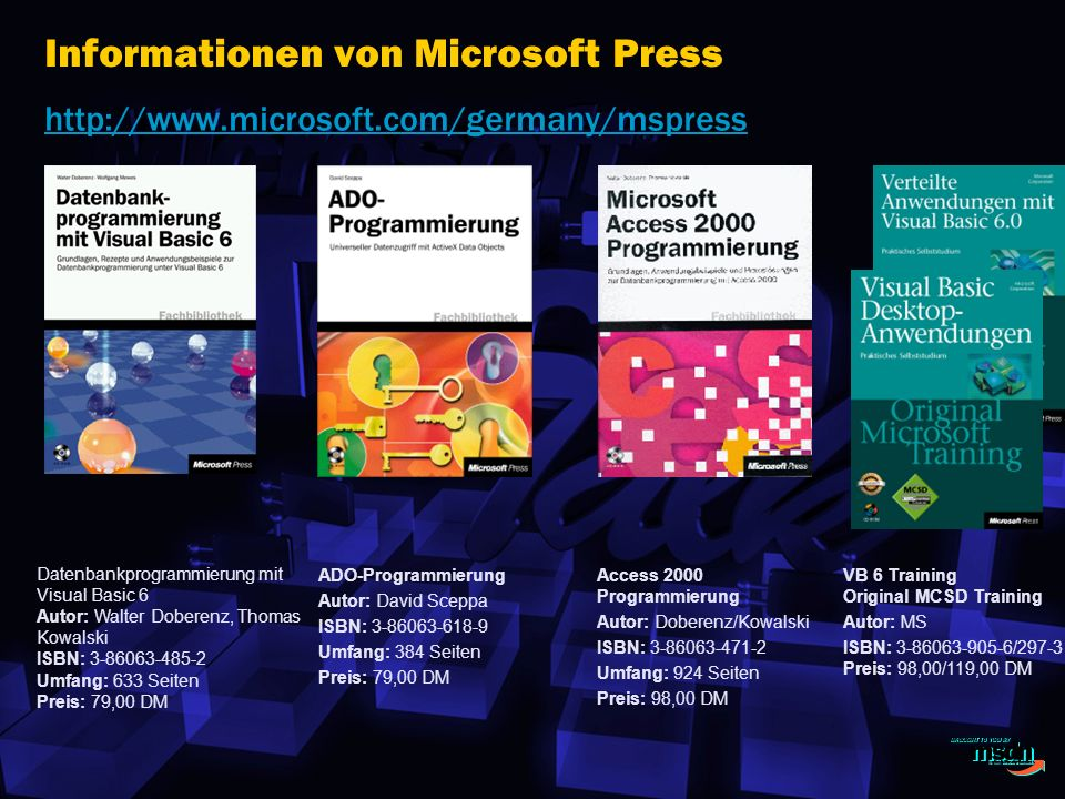 Informationen von Microsoft Press