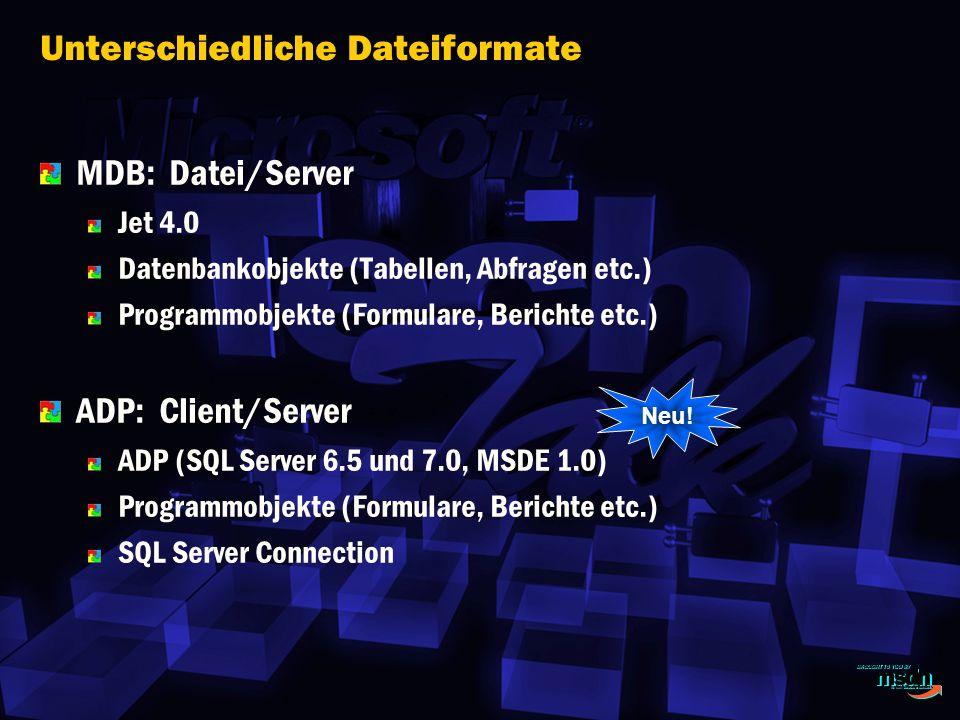 Unterschiedliche Dateiformate
