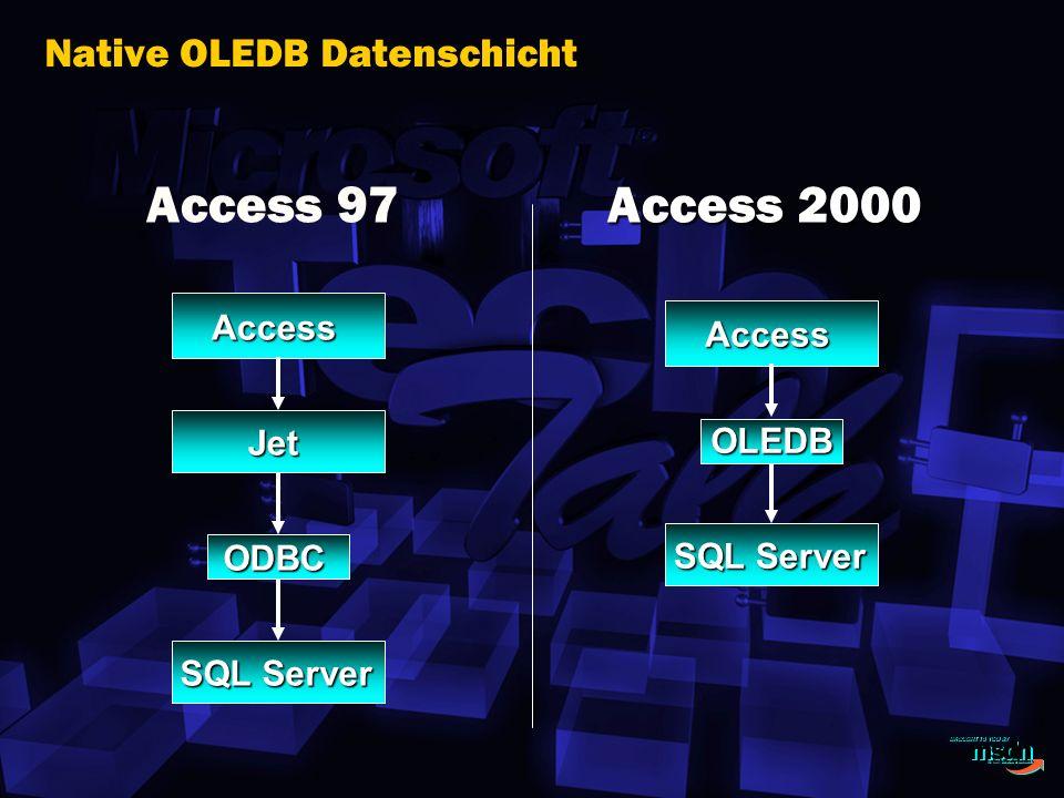 Native OLEDB Datenschicht
