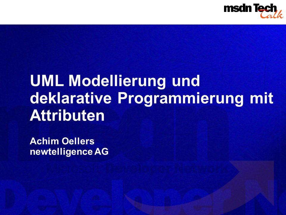 UML Modellierung und deklarative Programmierung mit Attributen