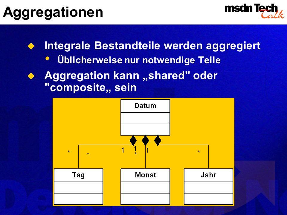 Aggregationen Integrale Bestandteile werden aggregiert