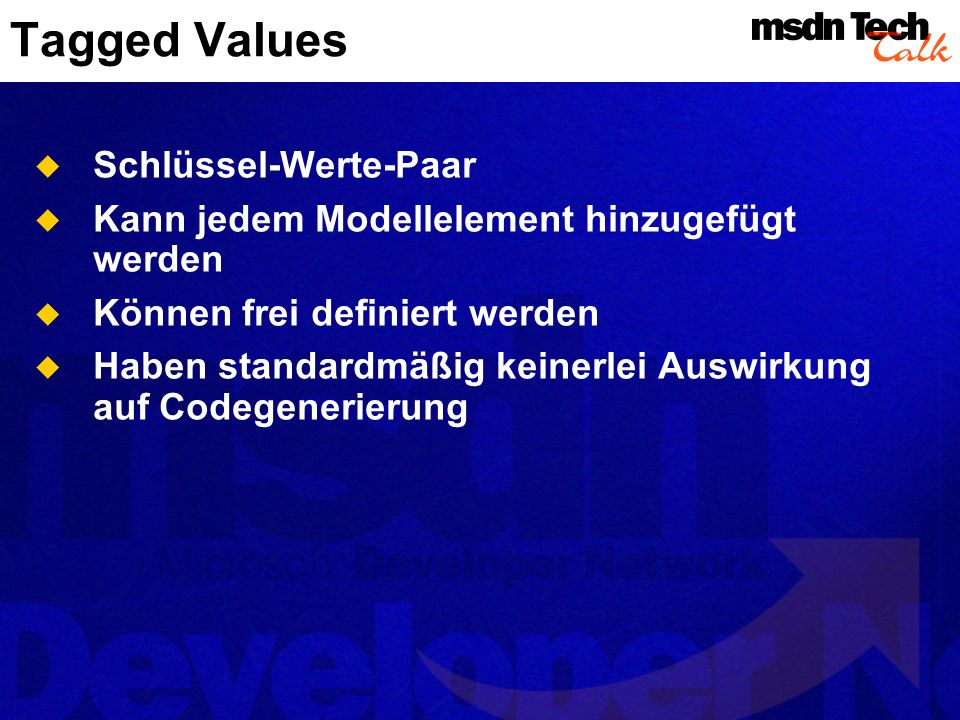 Tagged Values Schlüssel-Werte-Paar
