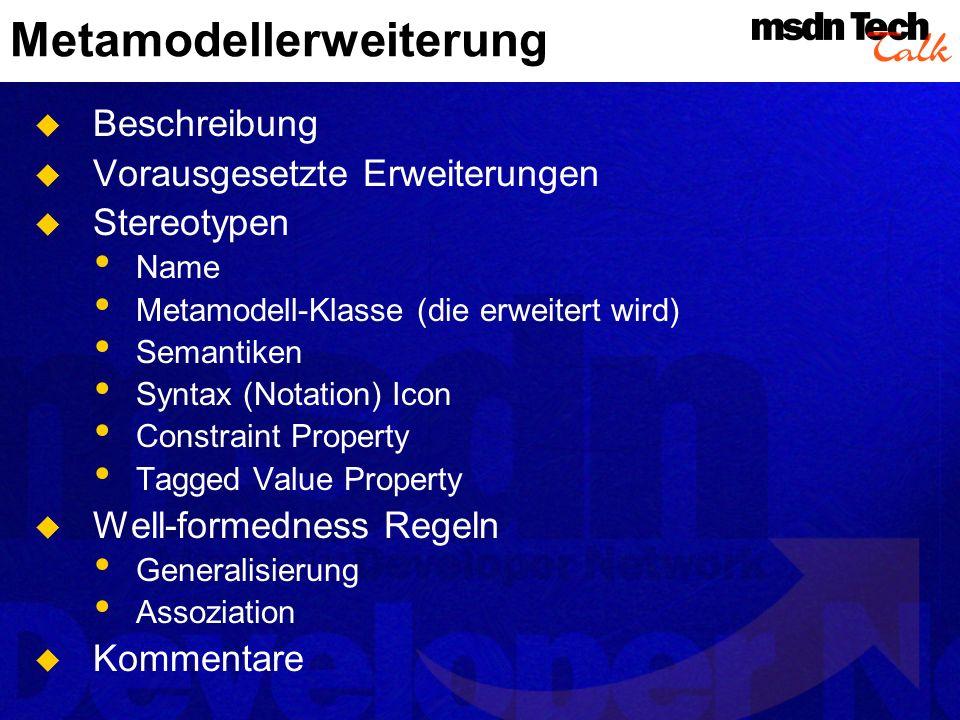 Metamodellerweiterung