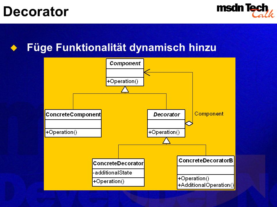 Decorator Füge Funktionalität dynamisch hinzu