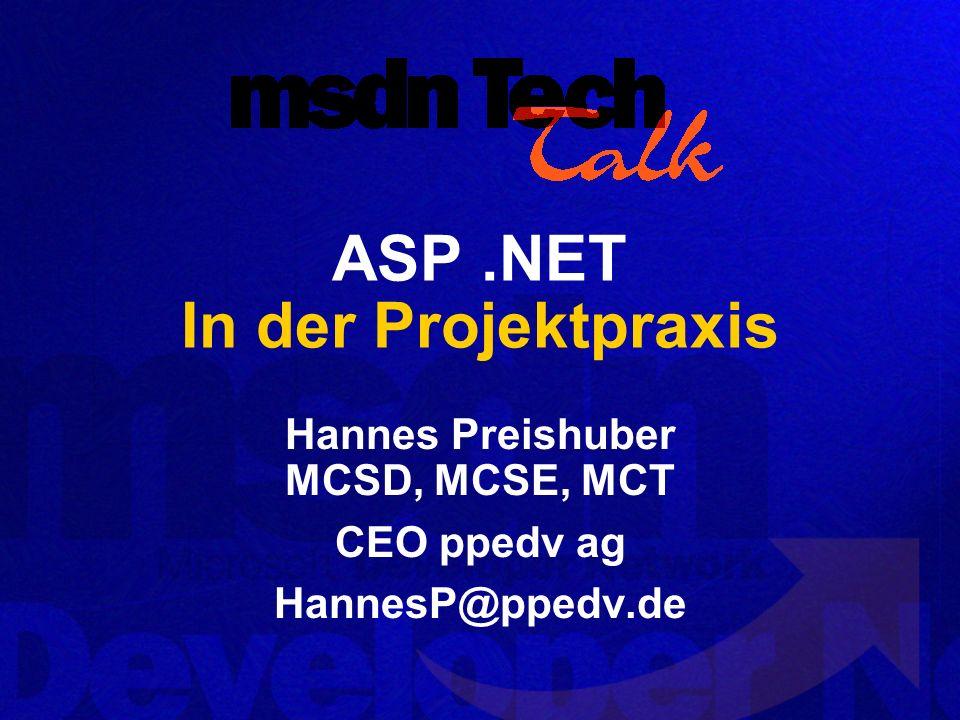 ASP .NET In der Projektpraxis