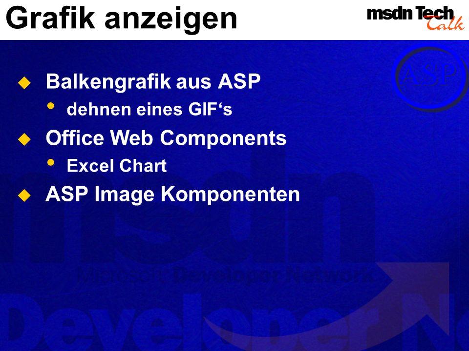 Grafik anzeigen Balkengrafik aus ASP Office Web Components