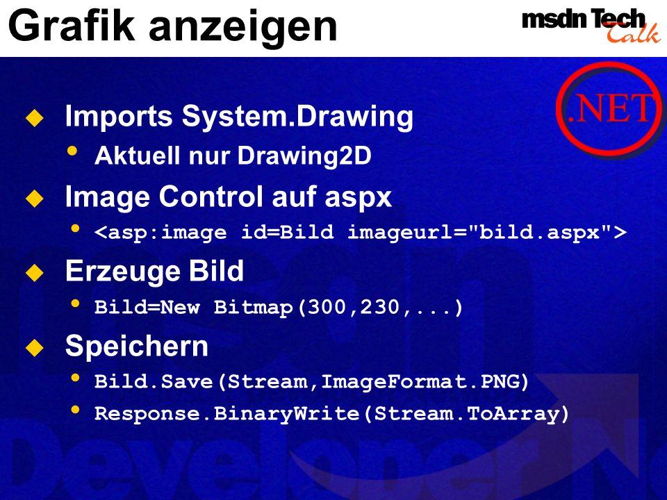 Grafik anzeigen Imports System.Drawing Image Control auf aspx