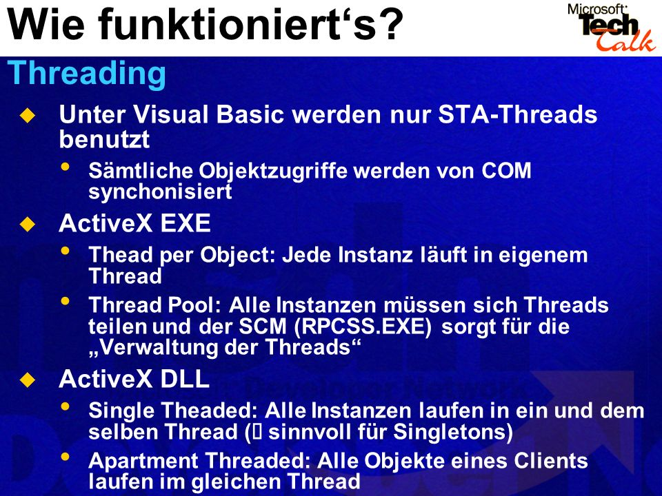 Wie funktioniert's Threading