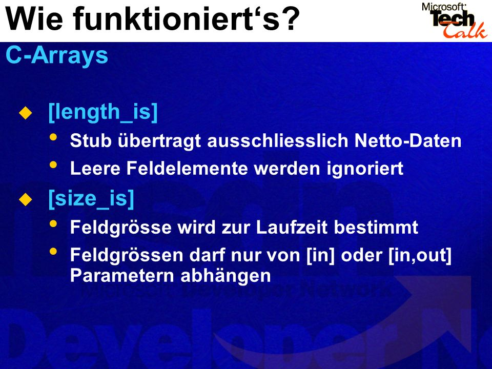 Wie funktioniert's C-Arrays