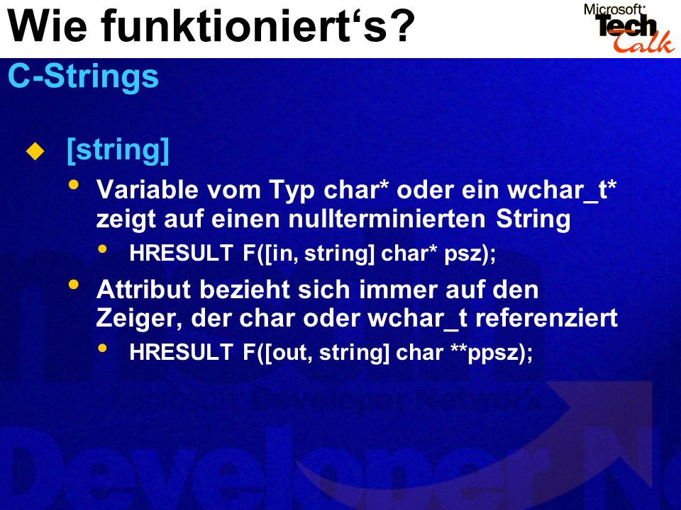 Wie funktioniert's C-Strings
