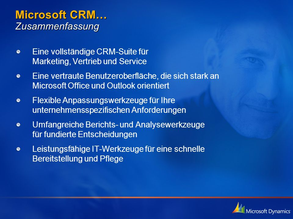 Microsoft CRM… Zusammenfassung