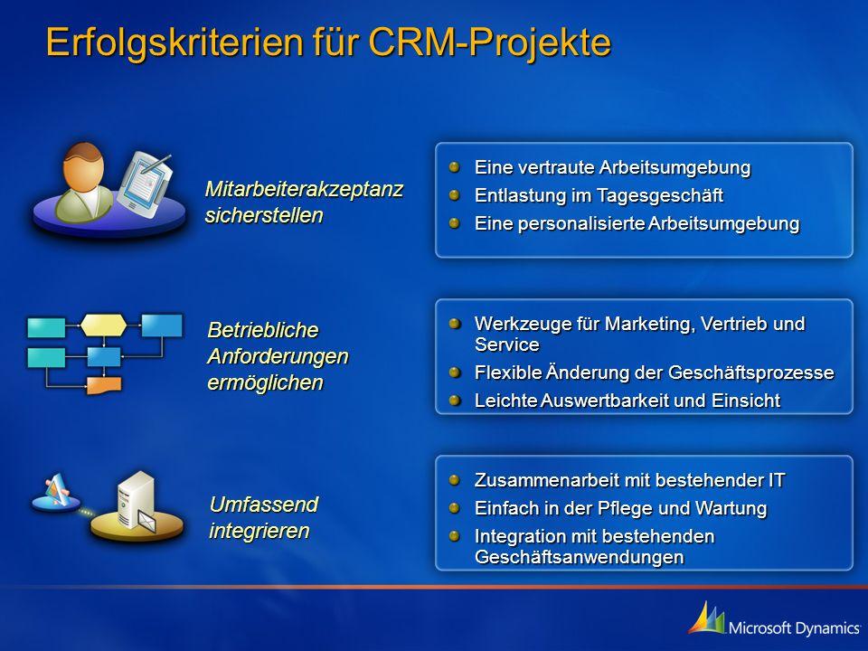 Erfolgskriterien für CRM-Projekte