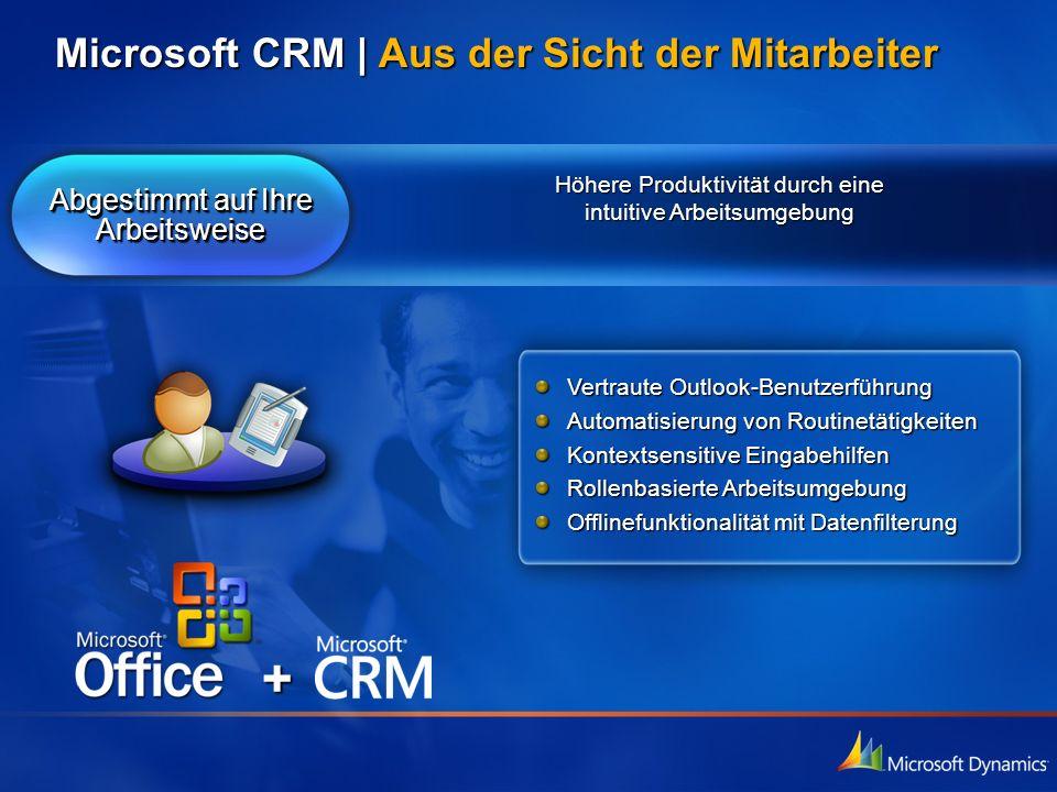 + Microsoft CRM | Aus der Sicht der Mitarbeiter