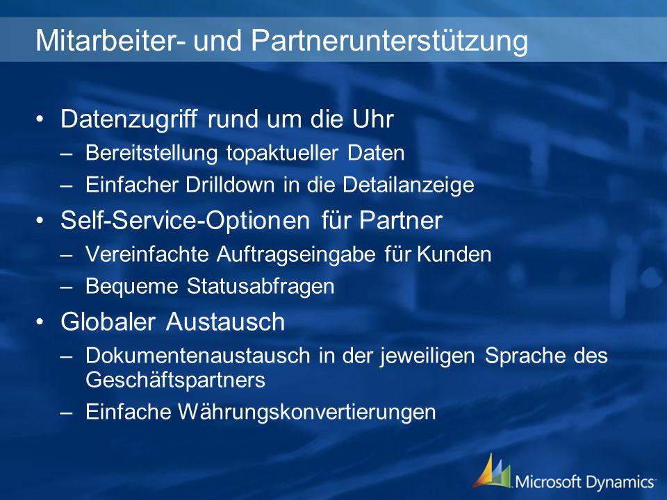 Mitarbeiter- und Partnerunterstützung