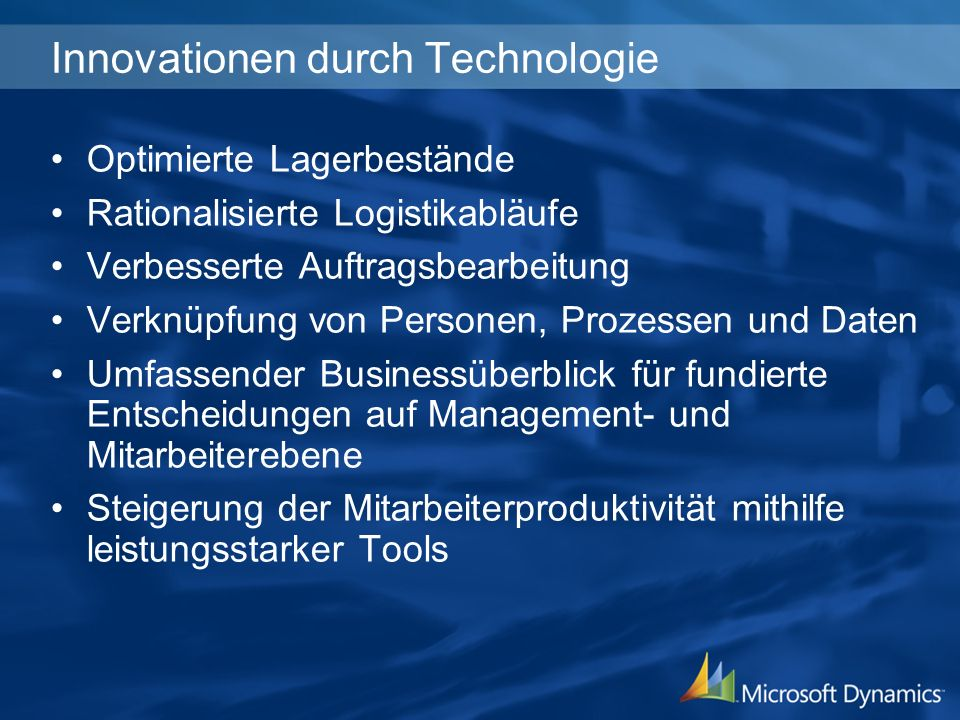 Innovationen durch Technologie