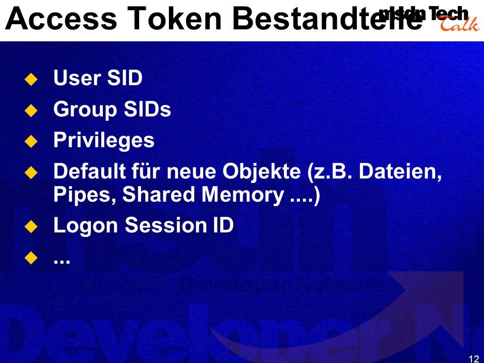Access Token Bestandteile
