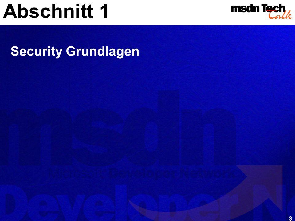 Abschnitt 1 Security Grundlagen